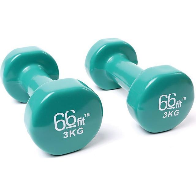 66Fit Vinyl Coated Dumbbells 2x3Kg
