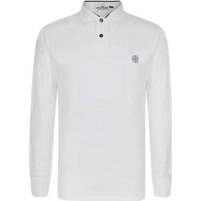 Stone Island Long Sleeved Polo Shirt - White