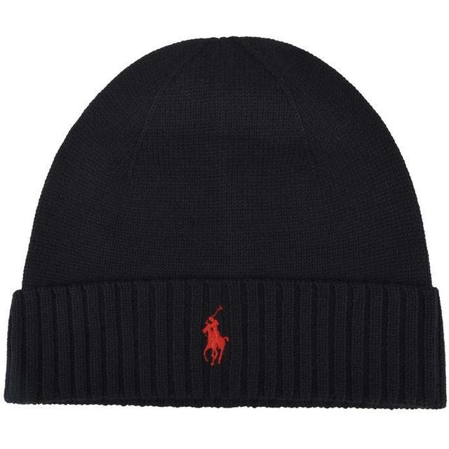 Polo Ralph Lauren Ribbed Beanie Polo - Sort