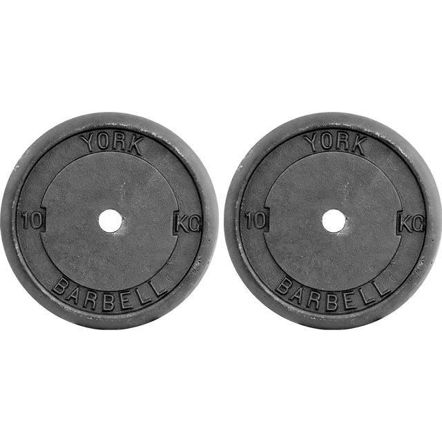 York Fitness Cast Iron Plates 2x10kg