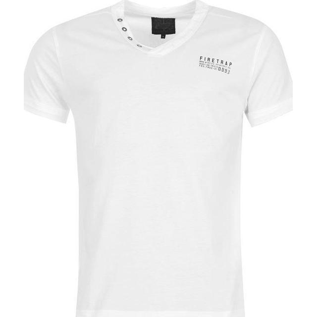 Firetrap Striding V Neck T-shirt - White