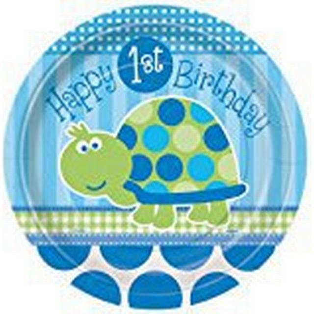 Unique Party 1st Birthday Dinner Plates Turtle