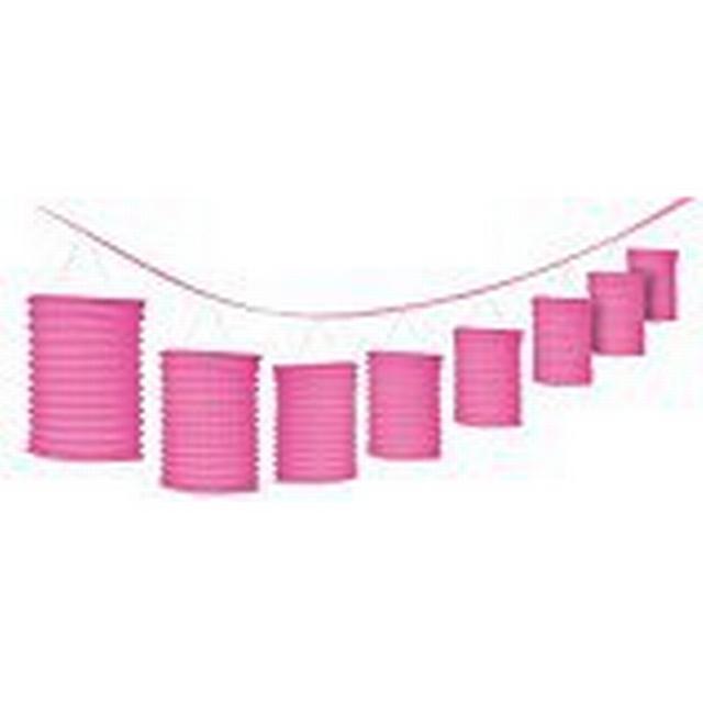 Amscan Bright Pink Lantern Garland
