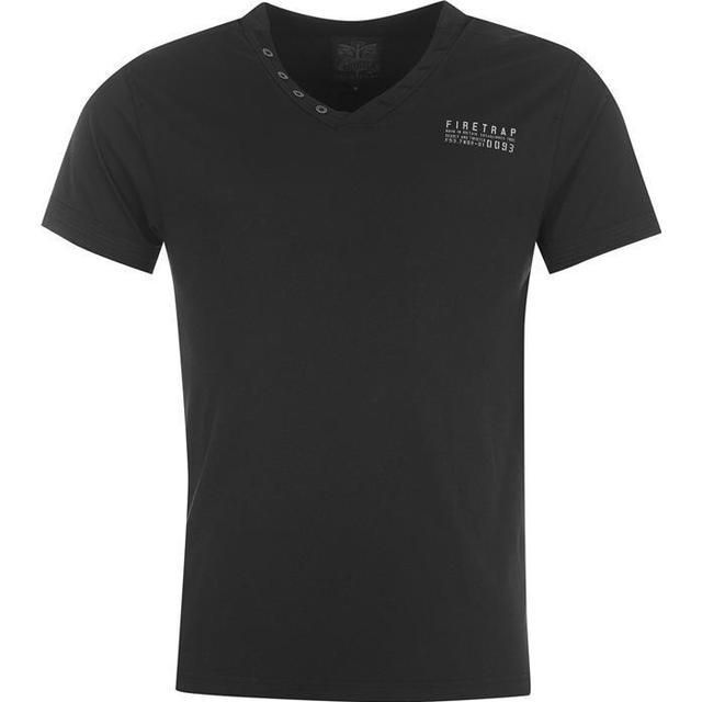 Firetrap Striding V Neck T-shirt - Black