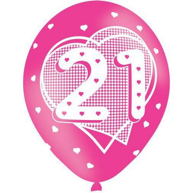 Amscan Age 21 Balloons Pink (9900667)