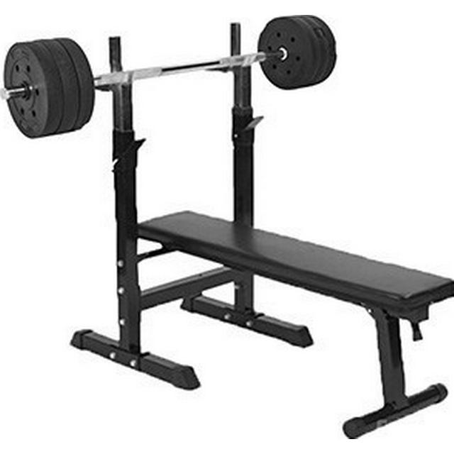 Gorilla Sports Bench Press Barbell and Weights 38kg