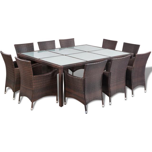 vidaXL 41821 Havemøbelsæt, 1 borde inkl. 10 stole
