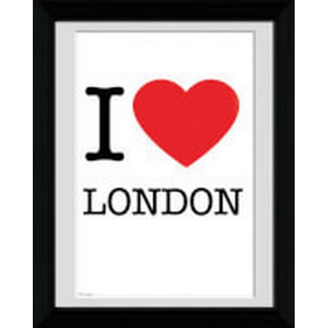 GB Eye London I Love 30x40cm Maleri & billede