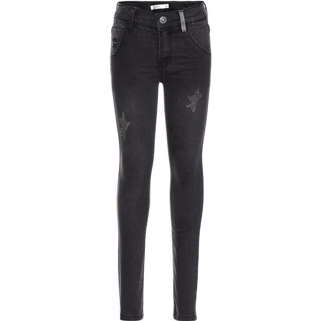 Name It Nittrap Power Stretch Skinny Fit Jeans - Grey/Dark Grey Denim (13142241)