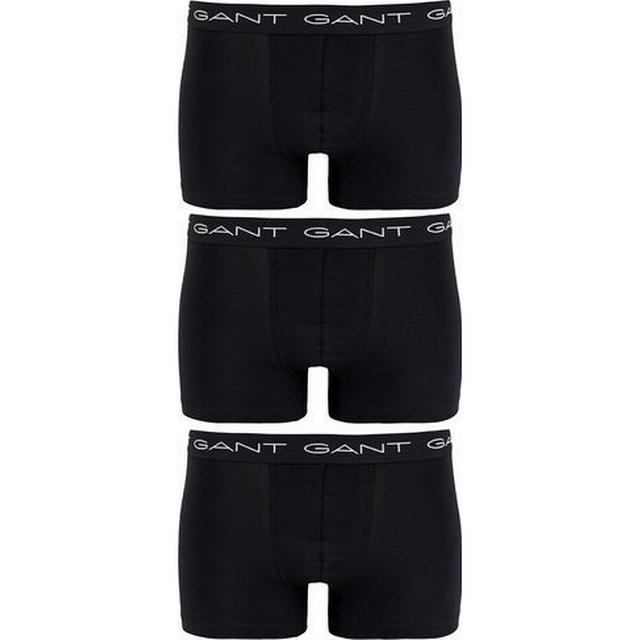 Gant Stretch Cotton Trunks 3-pak - Sort