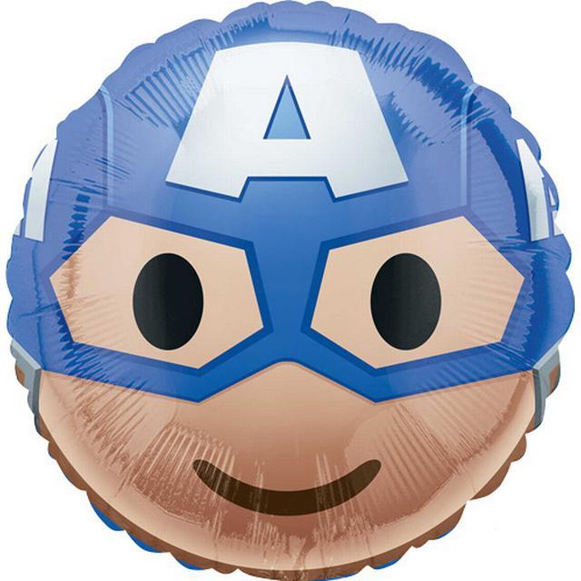 Amscan Captain America Emoji Standard HX (3636601)