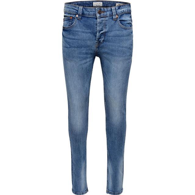 Only & Sons Warp Skinny Fit Jeans Blue/Light Blue Denim