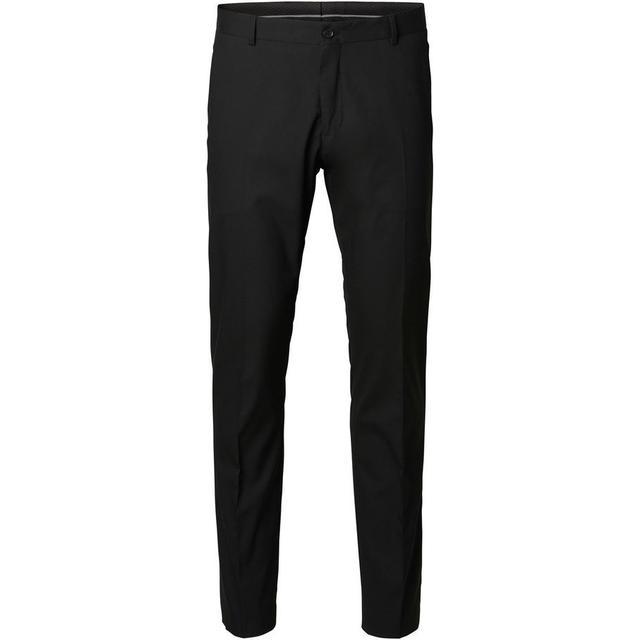 Selected Slim Fit Suit Trousers - Black/Black