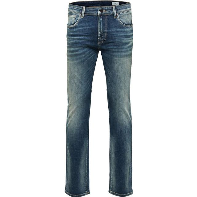 Selected Slim Fit Jeans Blue/Medium Blue Denim