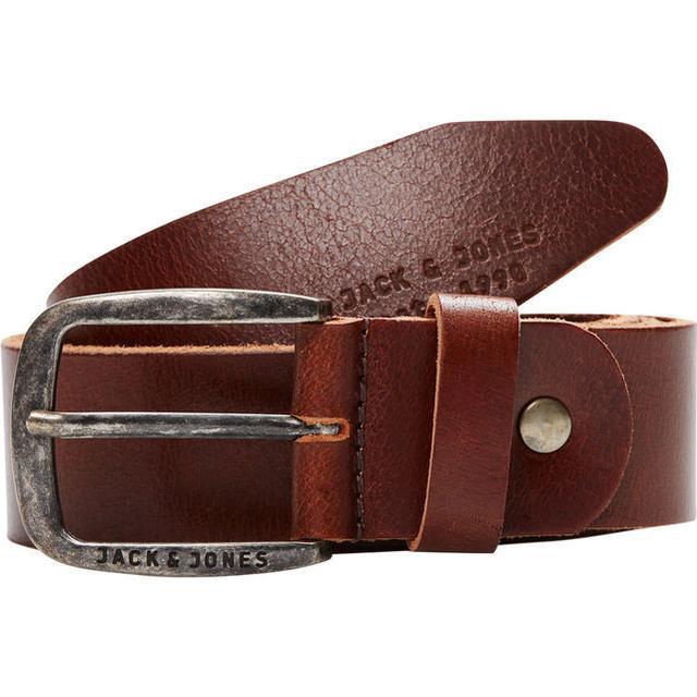 Jack & Jones Leather Belt Brown/Black Coffee