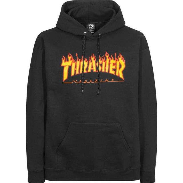 Thrasher Magazine Flame Logo Hoodie - Black