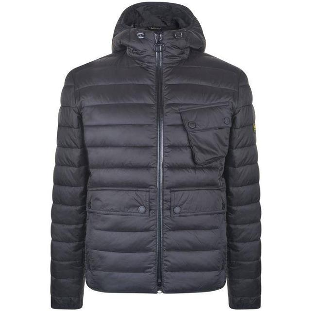 Barbour Oustan Hooded Slim Quilted Jacket - Black