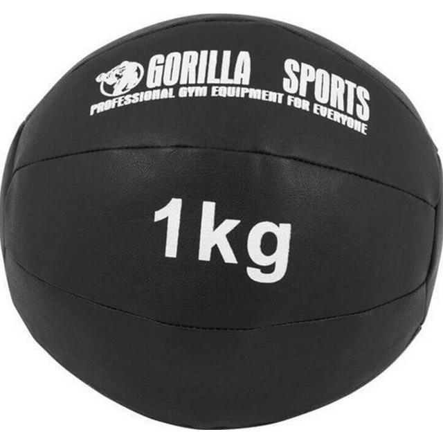 Gorilla Sports Pro Leather Medicine Ball 1kg