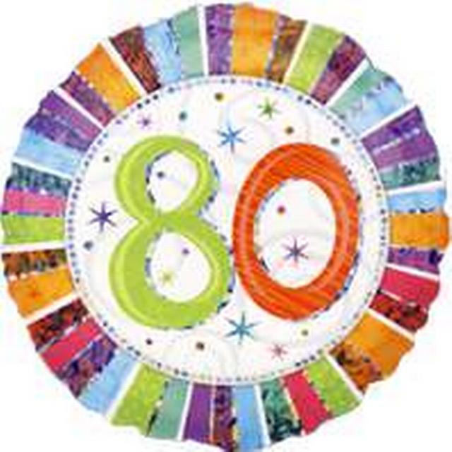 Amscan Radiant Birthday 80 (1607401)