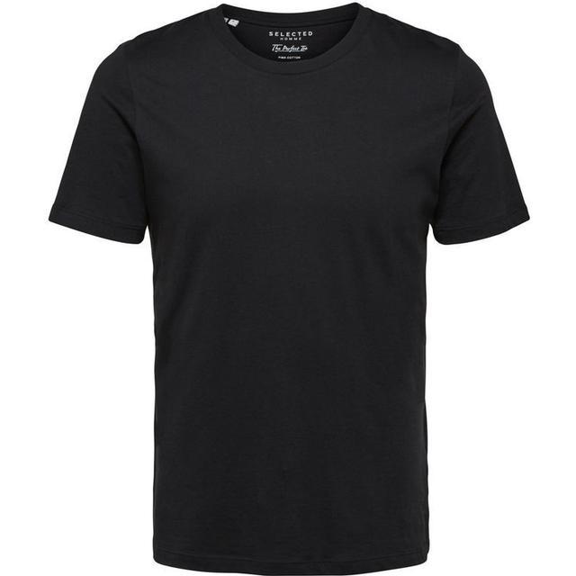Selected O-Neck T-shirt - Black/Black