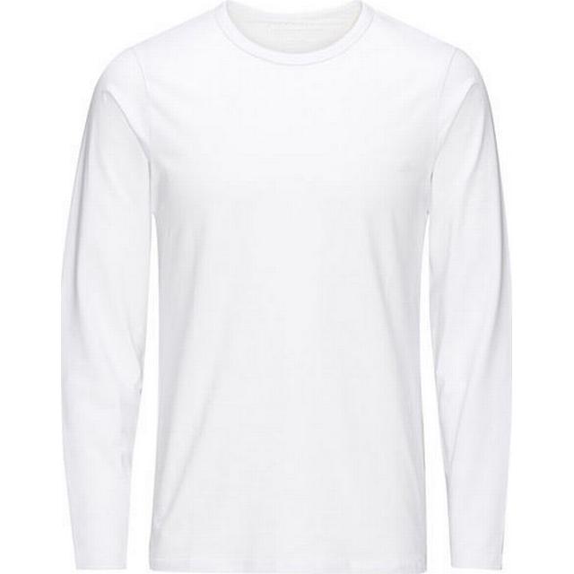 Jack & Jones Solid Long-sleeved T-shirt - White/White