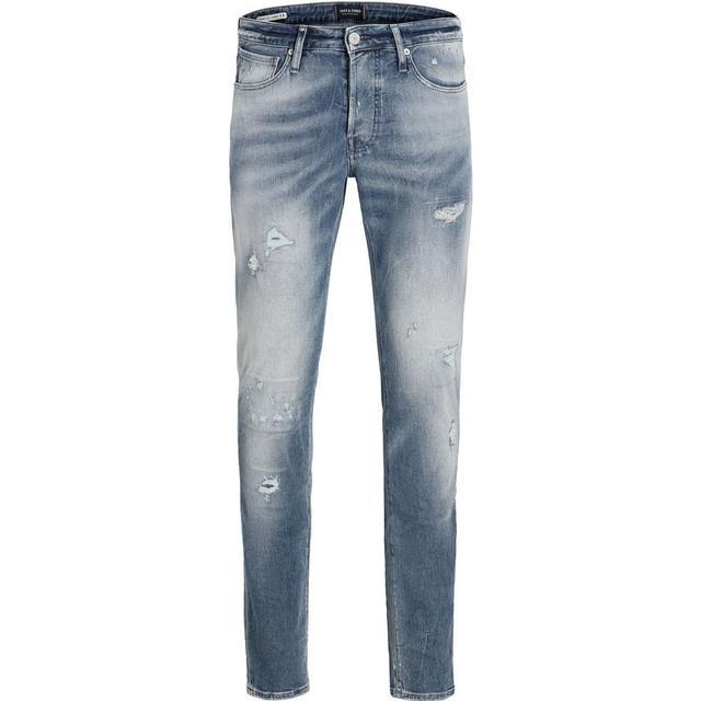 Jack & Jones Glenn Page Bl 795 Indigo Knit Slim Fit Jeans - Blue/Blue Denim