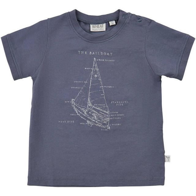Wheat Sailboat T-shirt - Greyblue