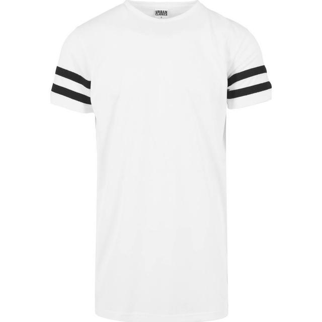 Urban Classics Stripe Mesh Tee - White/Black