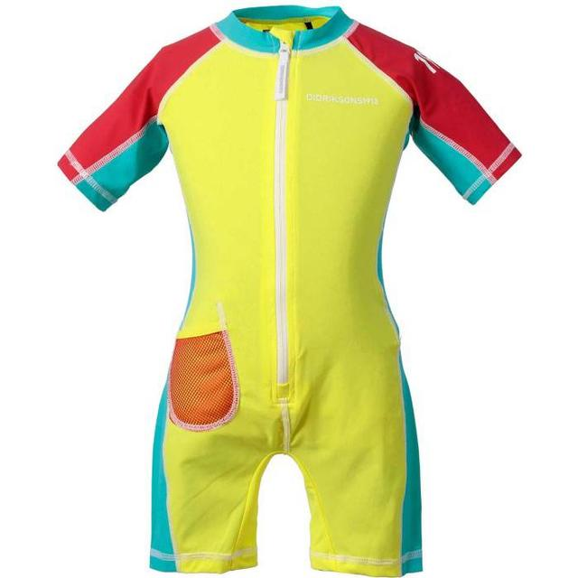 Didriksons Reef Kid's Swimming Suit - Citron (501728-284)