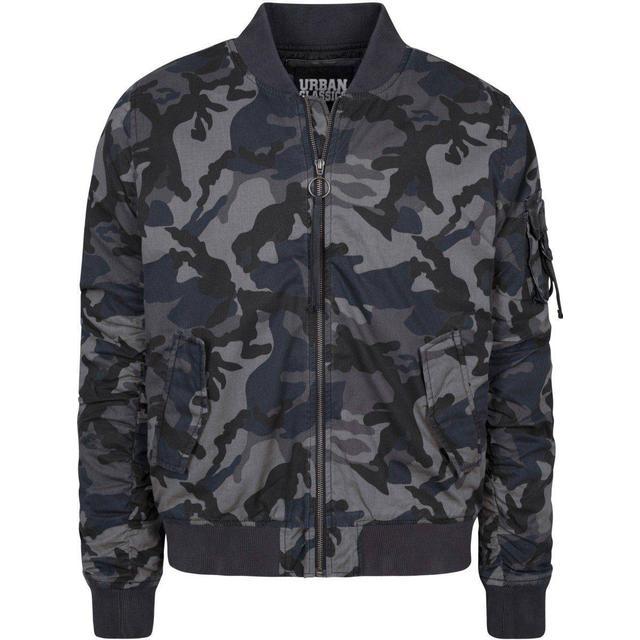 Urban Classics Vintage Camo Cotton Bomber Jacket - Dark Camo