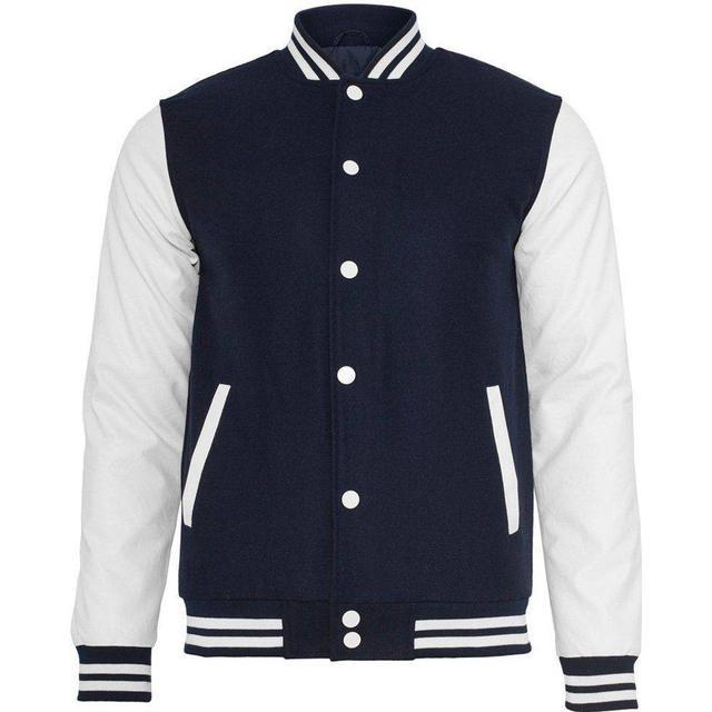 Urban Classics Oldschool College Jacket - Navy/White