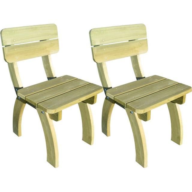 vidaXL 273755 2-pack Armløs stol