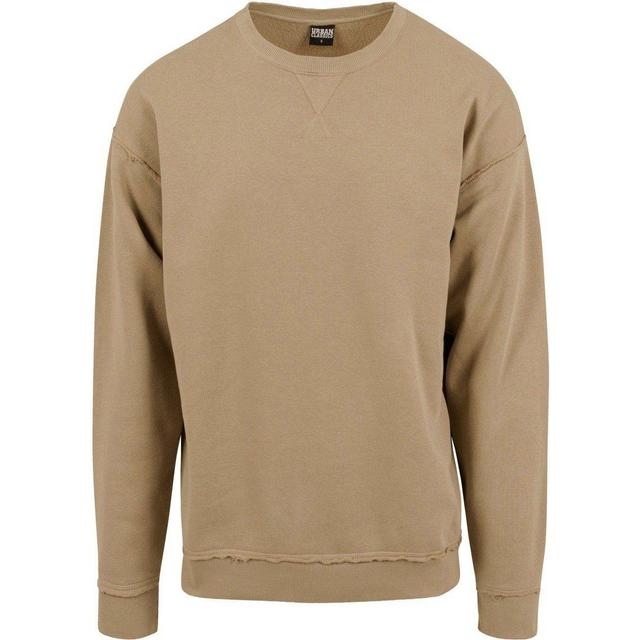Urban Classics Oversized Open Edge Crewneck - Warm Sand