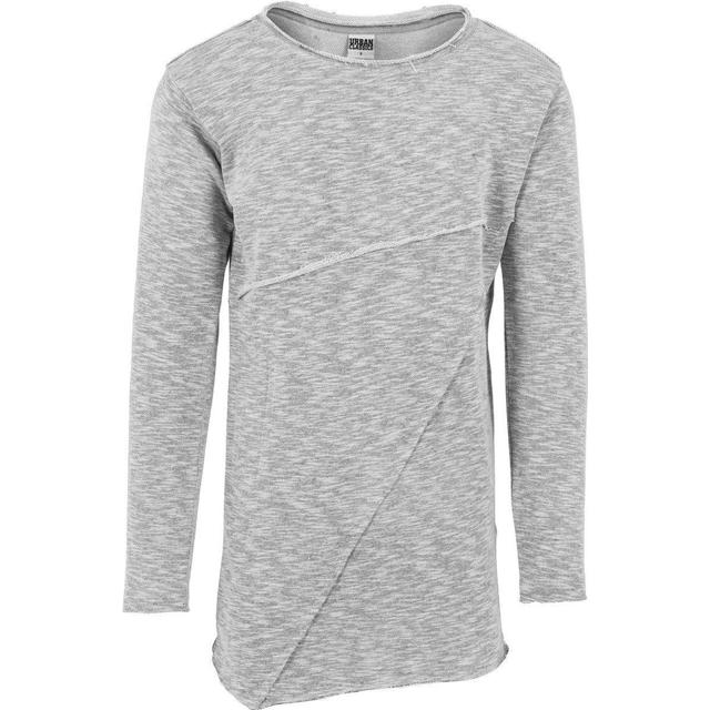 Urban Classics Fashion Long Terry Crew T-shirt - Grey Melange