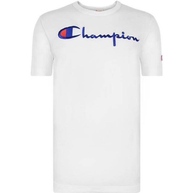 Champion Script Logo Crew Neck T-Shirt White