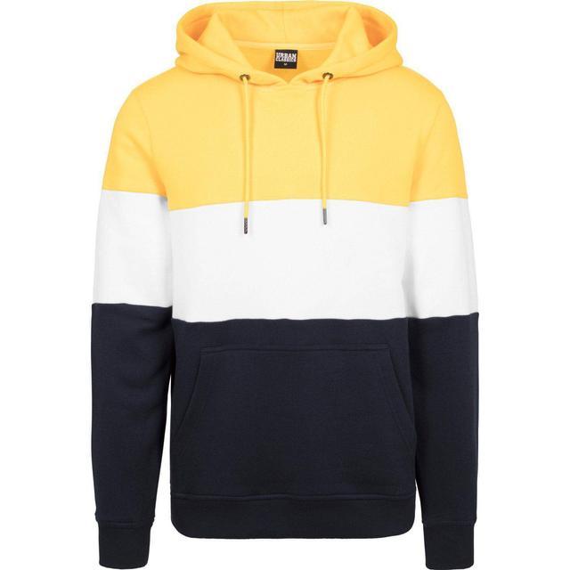 Urban Classics 3-Tone Hoody Chrome - Yellow/White/Navy