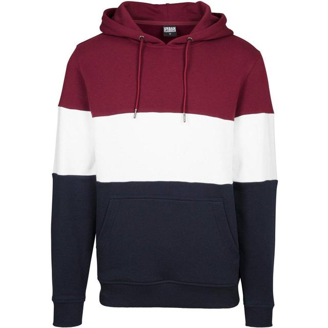 Urban Classics 3-Tone Hoody - Port/White/Navy