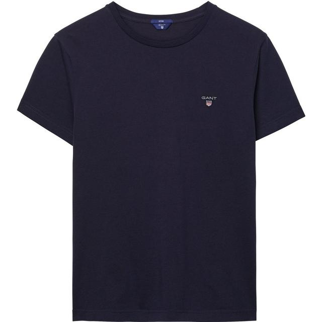 Gant Solid T-shirt Evening Blue