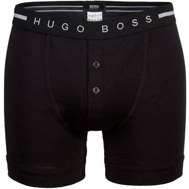 Hugo Boss Ribbed Cotton Button Fly Trunk Sort
