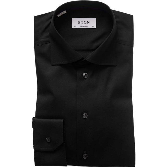 Eton Signature Twill Shirt - Black