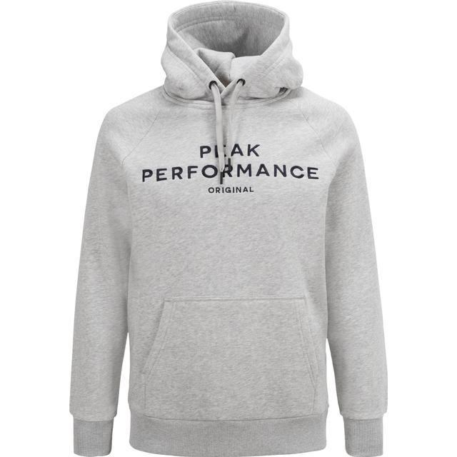 Peak Performance Logo Hood - MED Grey Mel