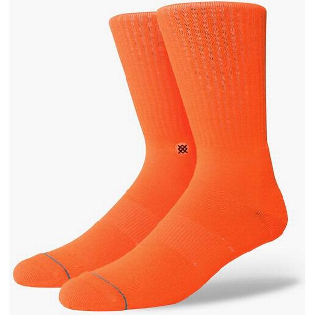 Stance Icon Anthem Socks Florescent Orange