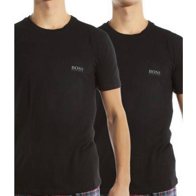 Hugo Boss Regular-Fit Stretch Cotton T-shirts 2-pack - Black