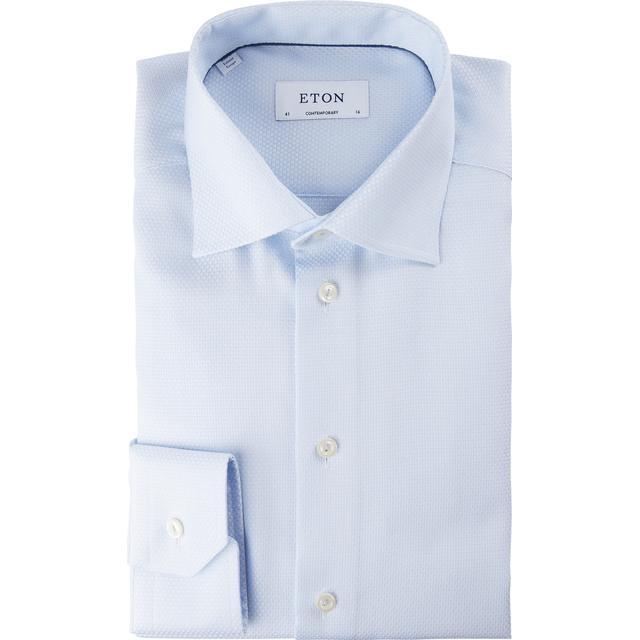 Eton Geometric Shirt Light Blue