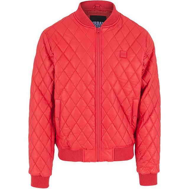 Urban Classics Diamond Quilt Leather Imitation Jacket Fire Red