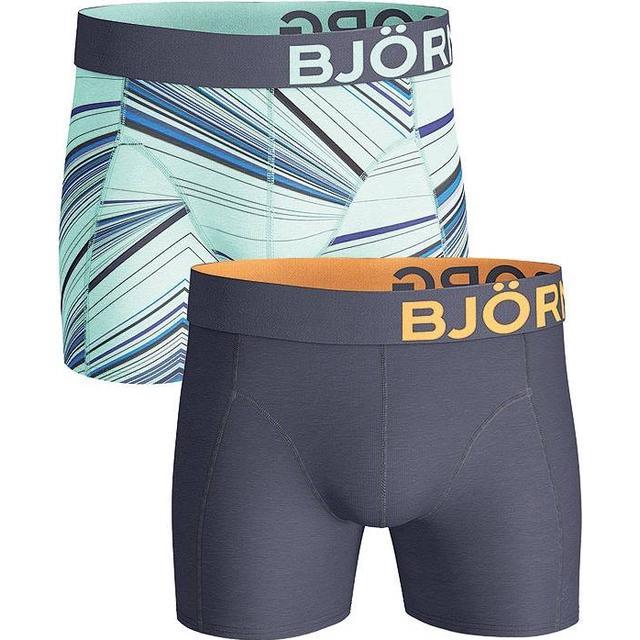 Björn Borg Fancy Spectrum Cotton Stretch Shorts 2-pack - Yucca