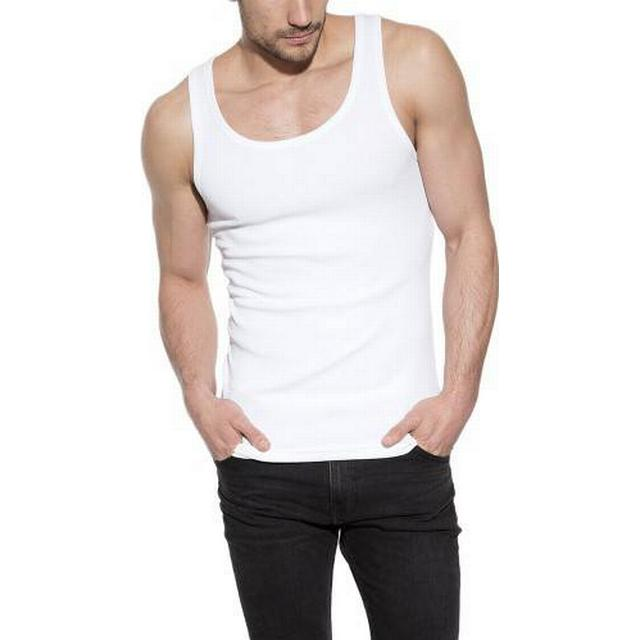 Bread and Boxers Tank Ribbed Top - White