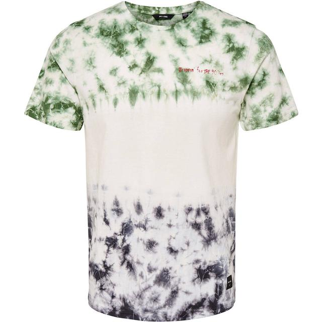 Only & Sons Dip Dyed T-shirt - White/White