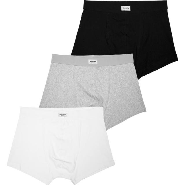 Resteröds Original Boxer 3-pack - Black/Grey/White