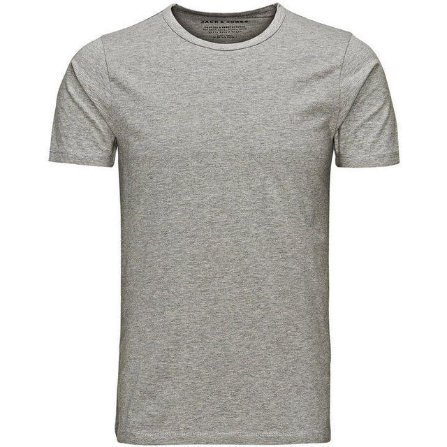 Jack & Jones Basic O-Neck Regular Fit T-shirt - Grey/Light Grey Melange